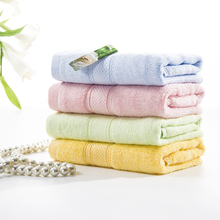 Quick-Dry Absorbent Face towel 34x76cm Mini Hair Drying washrag Stripe Soft 2017 knitted towel travel portable hand towel(China)