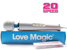 Love Magic 20 Speed Magic Wand Massager,AV Vibrators,Powerfull Vibration Full Body Massager for Women Men All Plugs DHL 20pcs(China)