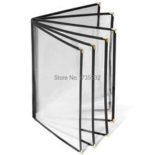 Advertising photo Album A4 6 pages PVC Recipe frame book Restaurant food shop menu frame file list picture albums(China)