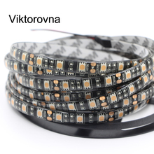 5050 RGB Flexible LED Strip light 60LEDs/m 12V Black PCB waterproof Fiexble Light Led Ribbon Tape Home Decoration Lamp 1m 2m 5m(China)