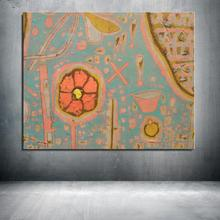 Graffiti Oriental garden Landscape Abstract Paul Klee Unframed Canvas Spray Frameless Oil Painting digital design kitchen(China)