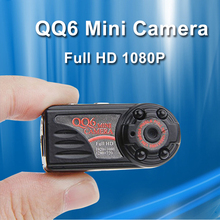 QQ6 Spied Camera HD 1080P 720P Mini Camera IR Night Vision Mini DV Camera 12M Motion Detection DVR Camcorder Digital Video Cam