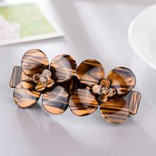 Korean Style Summer Jewelry New Floral Design Acrylic goody hair barrettes Candy Colors Fashion Barrette SA015(China)
