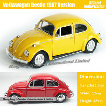 1:36 Scale Diecast Alloy Metal Classic Car Model For TheVolks wagen Beetle 1967 Version Collectible Model Collection Toys Car