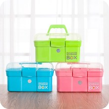 Plastic Multipurpose Medicine Box Stationery Jewelry Box Case Household Clinic Medications Organizer Storage Holder Container(China)