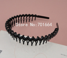 10PCS Black Plain waved plastic Comb Hair Headbands 25mm higth Handmade women hair jewelry, plastic hairbands with teeth