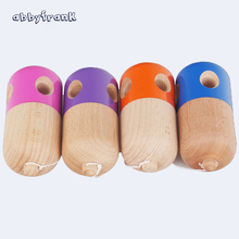 Abbyfrank 5 Holes Pill Kendama Ball Wooden Sword Ball Japanese Traditional Toy Ball Juggling Ball Educational Game PU Paint Gift