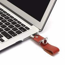 USB3.0 Flash Drive Portable Leather OTG Pen Drive 64GB/32GB/16GB/8GB High Speed Metal USB Flash Drive(China)