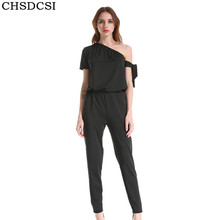 146caa9f8cd4 CHSDCSI Rompers Womens Jumpsuit Summer 2018 Body Overalls For Women Sexy  One Shoulder Bodycon Jumpsuits Loose Pant Tops Feminino