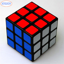 1Pcs Classic Toys 3x3x3 ABS Sticker Block High Quality Speed Magic Cube Colorful Learning&Educational Puzzle Cubo Magico Toys(China)