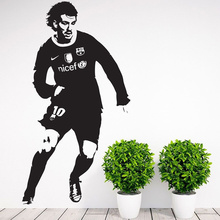 POOMOO Wall Stickers Barcelona Leo Messi Boys Wall Art Decal Room Decor Sticker  109x57cm
