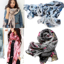 2017 Fashion New Women Ladies Soft Long Flower Floral Printed Colorful Scarf Girls Wrap Shawl Pashmina Sarves Big Size S161