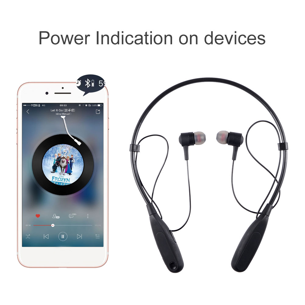 2018 Bluetooth Sports in-ear Earphones Hands-free calls Portable Wireless Stereo Earbuds Neckband Earpieces for xiaomi JKR-302A
