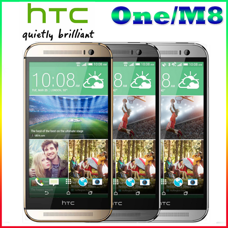 "Free Shipping HTC M8 100% Original HTC One M8 Phone With 5.0""screen Quad-core Dual 4MP+5MP Camera WIFI GPS 4G LTE Cellphone(China (Mainland))"