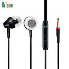 Briame Portable Mini Stereo Bass Earphone For iPhone 5 6 Samsung Sport Headphone With Microphone Wired Outdoors Sport Earphones