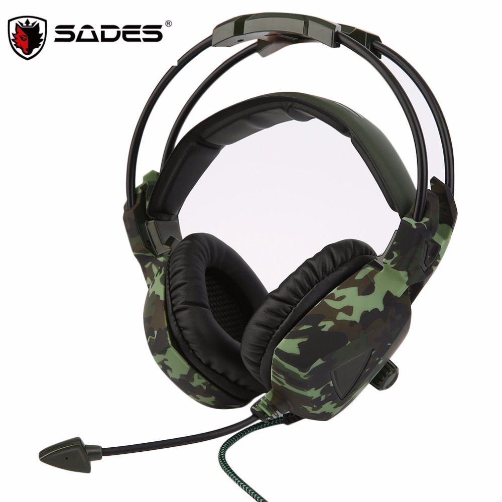 SADES SA-931 Super Stereo Bass Camouflage Headphones Home Office Gaming Gamer Noise Isolation Comfortable Headsets<br><br>Aliexpress