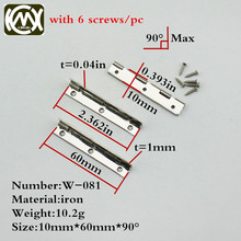10pc 10*60mm In stock jewelry box hinges Small box cabine hinges Chinese cabinet hardware Hinges for Gift box W/screw W-081