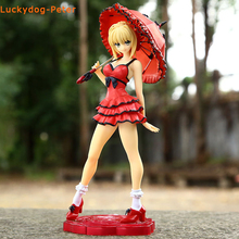 Fate Stay Night Red Saber Action Figure 1/8 scale painted figure Red Dress Ver. Nero Doll PVC ACGN figure Toy Brinquedos Anime
