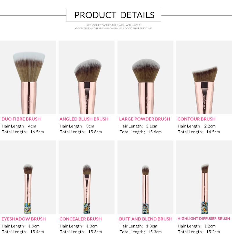 Nouveau Maquillage Brosses 12 pcs Ensemble En Bambou Make Up Brosse Souple Synthétique Collection Kit avec Poudre Contour Fard À Paupières Sourcils Brosses 3