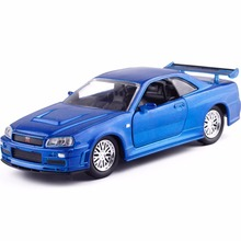 New 1:32 JADA NISSAN SKYL GT-R R34 Alloy Diecast Model Car Vehicle Toy For Kids Birthday Gifts Collection Toys Free Shipping(China)