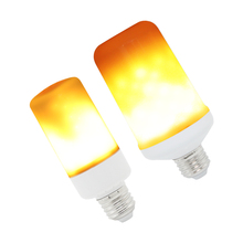 1pcs E27 LED Flame Effect Fire Light SMD 3825 Bulbs Flickering Emulation Home Decorative Lamps Lighting AC 85-265V 1800-2200K(China)