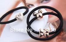 (3PCS) Fashion korea Elastic heart apple hair circle hair rope butterfly hair bands jewelry wholesale! New Fashion free shipping