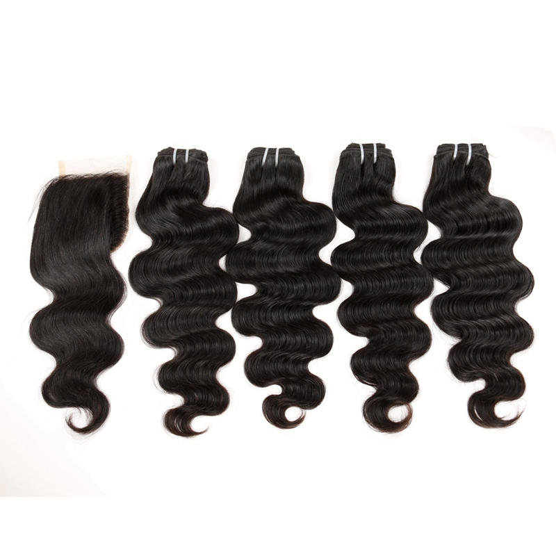 4Bundles 7A Body Wave Virgin Human Hair With Lace Closure 10-20Inch Affordable Body Wavy Closure With 4Bundles Hair With Closure<br><br>Aliexpress