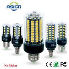 Flicker SMD5736 E27 E14 Led lamp 3.5W 5W 7W 8W 12W 15W LED Corn Bulb light 85V-265V Constant Current Lamp - VBS Official Store store