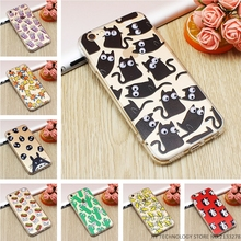Luxury Cartoon 3D Eye Move Mouse Cat French Fries Banana Popcorn Soft TPU Phone Cases For iPhone 6 6S 7 Plus 5 5S SE Back Cover