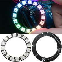 Smuxi RGB LED Ring Light Bulb Round Lamp 16x WS2812B 5050 RGB with Integrated Drivers DC4-7V