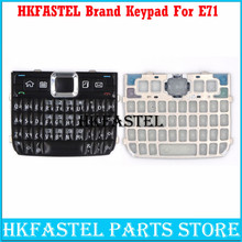 HKFASTEL New High quality For Nokia E71 Mobile Phone Housing English or Russian Chinese Keypad Cover Keyboard Case free shipping