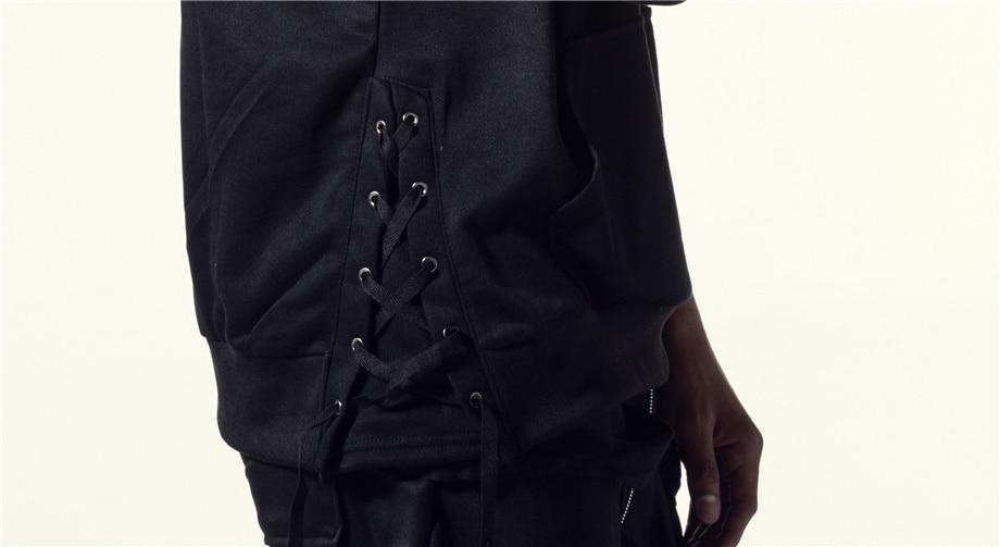 Una Reta Brand New Design Hoodie Men Fashion Sweatshirts Bandage Design Hip-Hop Style Plus Size M-5XL Pullover Sweatshirts Men 15