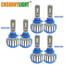 CNSUNNYLIGHT LED Headlight Fog Lights 9005 9006 Replacement Bulbs For Toyota Corolla 2006-2009 Car Whole Complete Headlamp Set