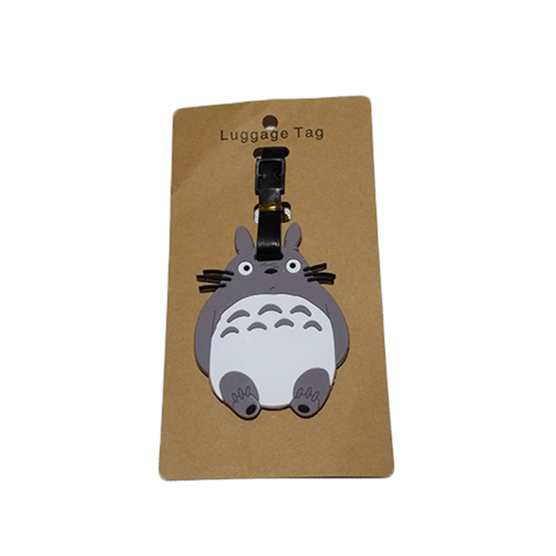 Travel Accessories Luggage Tag Suitcase Cartoon Style Cute Minions Silicone Tags Portable Travel Label Bag Tag Obag Accessories (15)