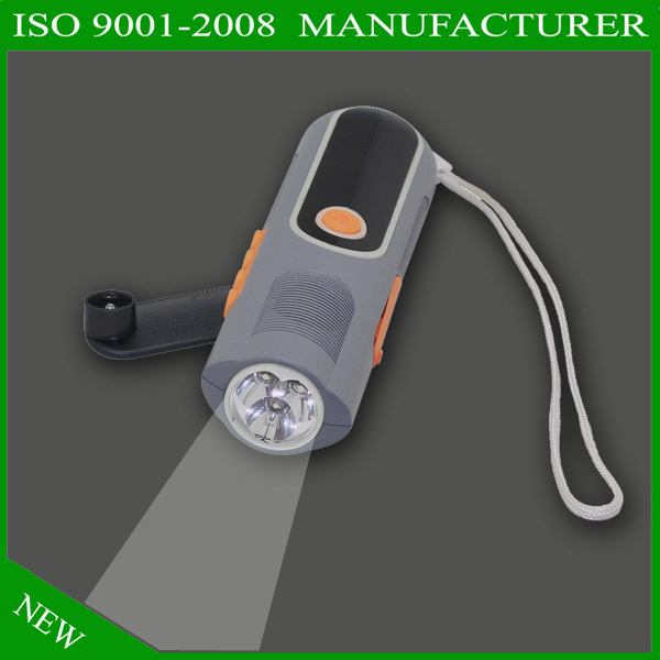 LED Lamp Solar Power Hand Crank Wind Up Emergence Flashlight Camping Light Torch
