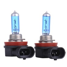 2pcs 55W 5000K H11 Car Fog Light Bulb Lamp Super White 12V Halogen Car Auto Head Lamp H11 Car Styling for Car Headlight Bulb