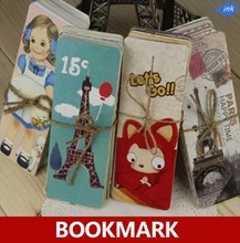 Four series can be chosen , Cartoon / Lovely Girl /  Vintage Tower / Kawaii fox paper bookmark / book marks/Book holder/bookband