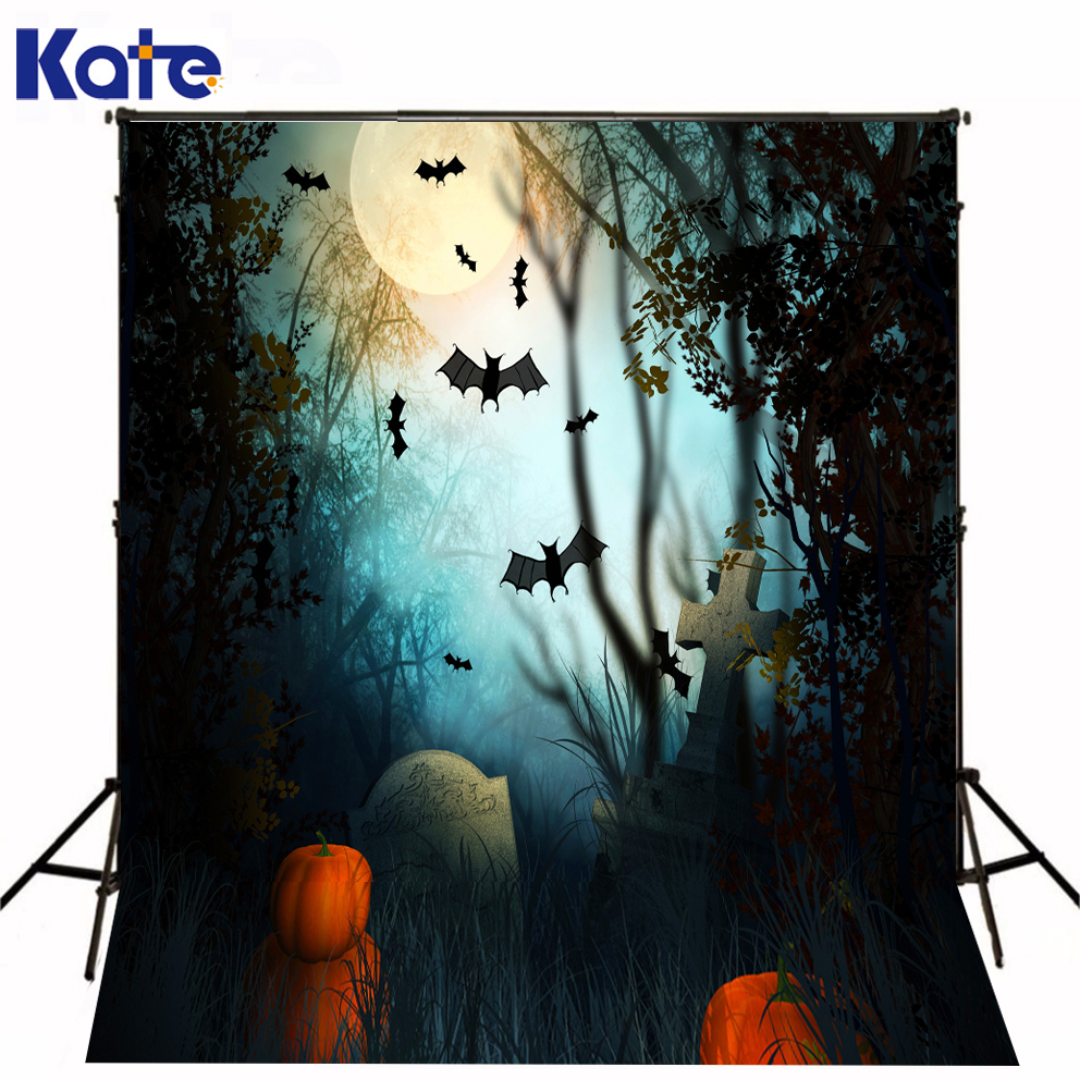 Backdrops Field Halloweeen Photography Background Pumpkin Bat Background Kate Background Backdrop<br>