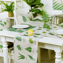 High Grade Linen Cotton Home Table decor American style Rural Flowers pattern 3784 Placemat Tea Western mats coffee Table flag(China)