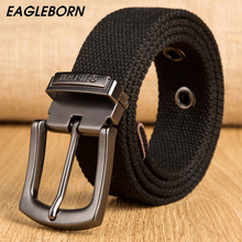Hot male tactical belt Top quality 4 mm thick 3.8 cm wide canvas belt For men Automatic buckle Man extended Leisure belt(China)