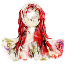 [LESIDA]100% wool scarf women,190*70CM Big Size Shawls And Hijabs,Printing Red Flower Design Pashmina Shawls,Girl's Cape w3917