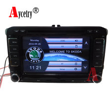 Aycetry! 2 Din Car DVD Player For Skoda Octavia Fabia Fast Yeti Superb VW Seat Stereo 3G GPS Navigation Radio FM 1080P Ipod MAP(China)