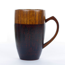 1 PCS 320ML Creative Love Couples Mugs Natural Wood Mugs with Handle Wooden Couples Coffee Tea Mugs Valentine Gifts(China)