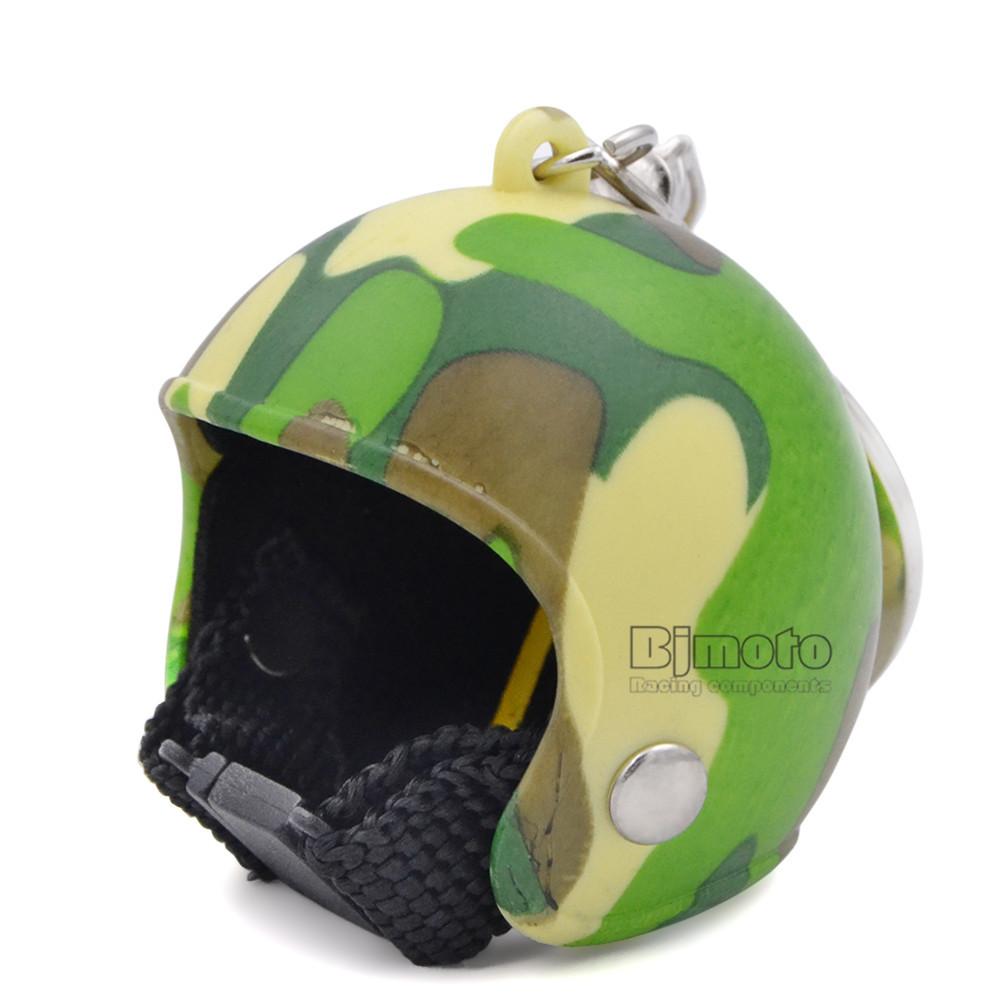 Motorcycle Helmets Key chain Women Men Cute Safety Helmet Car Keychain Bags Hot Key Ring For Kawasaki Honda Yamaha (4)