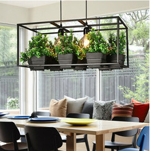 HAIXIANG Modern garden greenhouse pot restaurant dining room Pendant Lights personality rest double Iron Decorative lighting