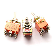 Toggle Switch 3 Position E-TEN 1322 ON-OFF-ON,6 Screw with Waterpoof Cover 15A/250V 1N/O+1N/C