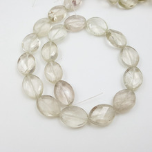 Lii Ji Grade A Natural Stone Light Lemon Smoky Quartz Oval Shape Faceted Beads Approx 15x20mm DIY Jewelry Market(China)