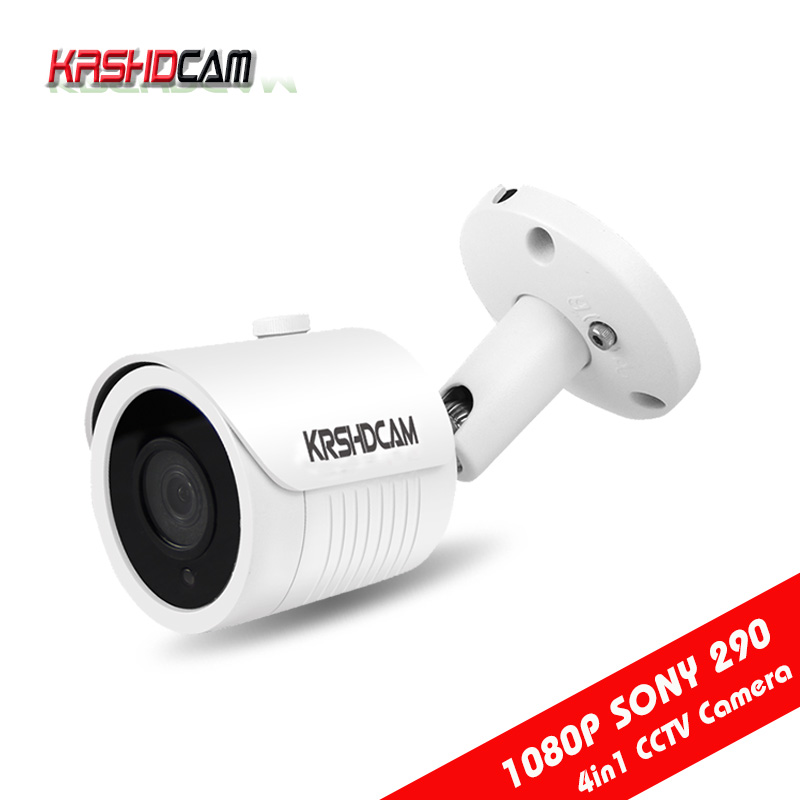 FULL HD 1080P AHD Camera sony IMX290 4 IN1 Bullet outdoor waterproof ip66 security cctv Night Vision HD Lens 1920*1080 IR-CUT<br>