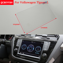 Car Sticker 8 6.5 Inch GPS Navigation Screen Steel Protective Film For Volkswagen Tiguan L Control of LCD Screen Car Styling