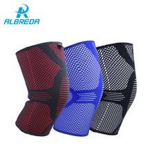 ALBREDA New Elastic Sports Leg Knee Support Basketball Volleyball Knee Pads leg sleeve knee brace Patella Guard Protector Safety